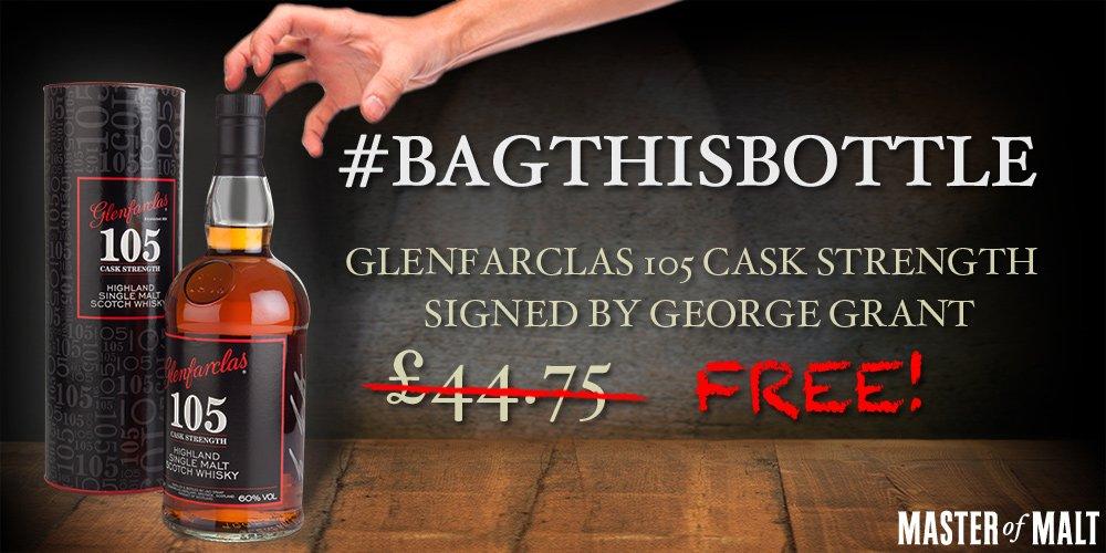 #BagThisBottle! RT + Follow both @MasterOfMalt and @Glenfarclas for your chance to win! #Glenfarclas105 https://t.co/RDPtnrRVlT