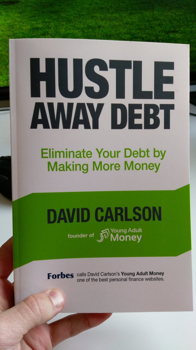 Just got my copy of @davidcarlson1 book from @amazon ! #hustleawaydebt https://t.co/3k9VUexETT