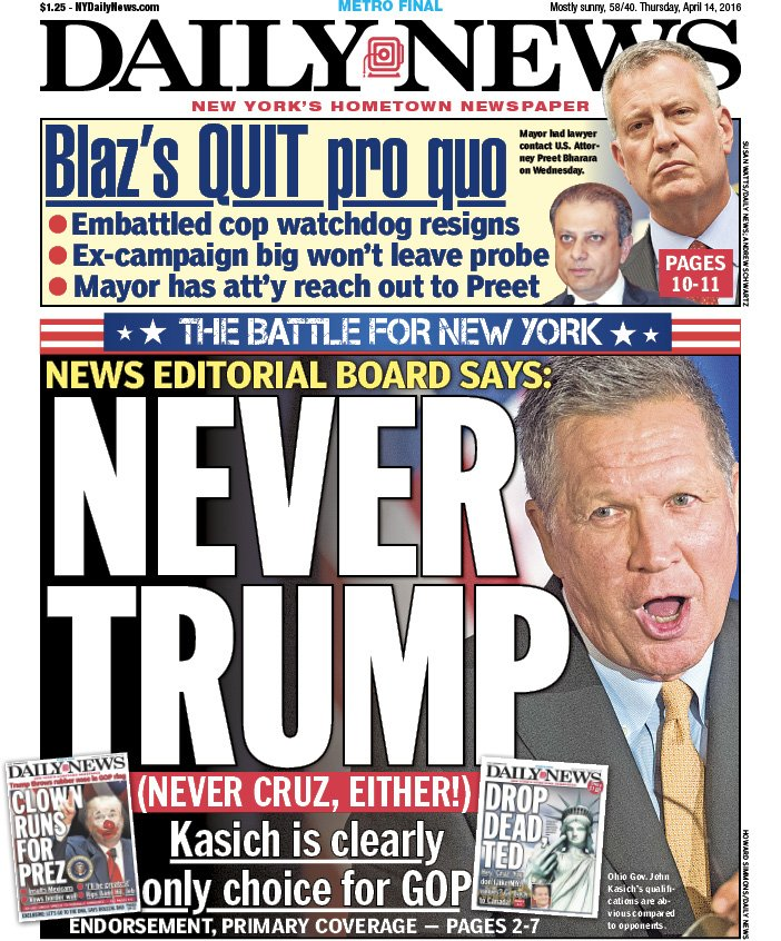 """New York Daily News: New York Daily News On Twitter: """"Tomorrow's Front Page"""