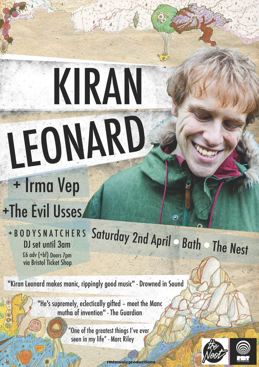 Remaining tickets for KIRAN LEONARD (@missythis ) who plays @thenestbath TONIGHT! #AEFesthttps://t.co/KvRlnt1Rrt https://t.co/D7WosSRiFp