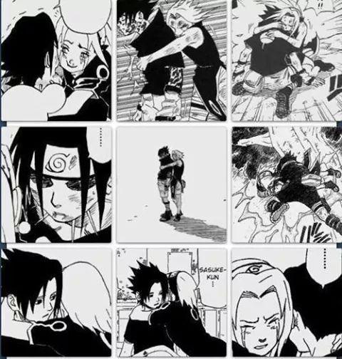 Sasuke hugs sakura