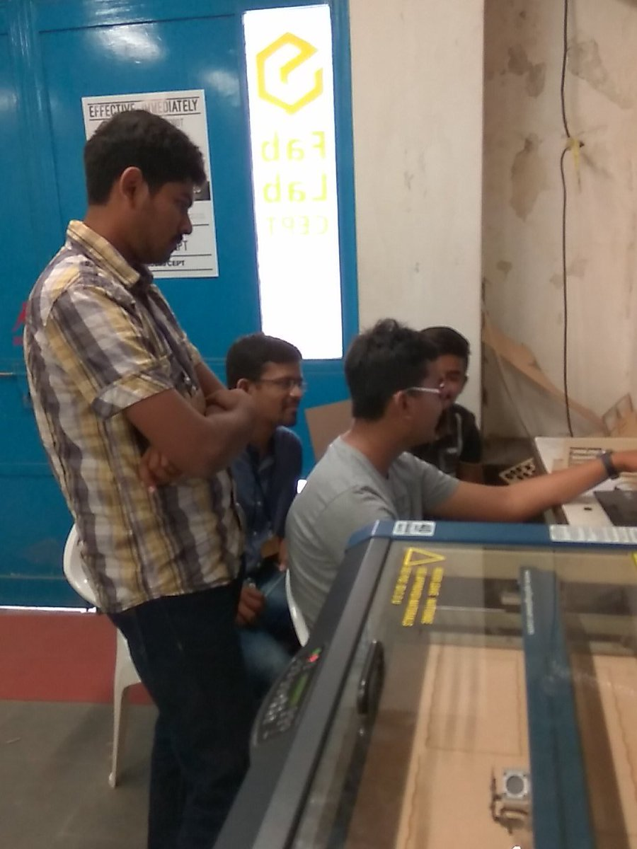 Participants learning laser cutting at IOT  Fab-a-thon #fablabcept #GenuinoDayAhmedabad #AEFest https://t.co/tL5fsI6VnC