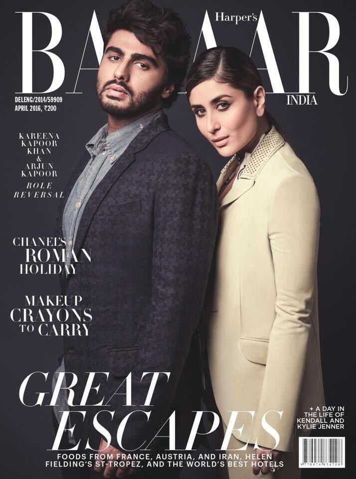#KareenaKapoorKhan and #Arjunkapoor come together on doing the unexpected, as they grace our April'2016 cover. https://t.co/Mzjgz07ZMe