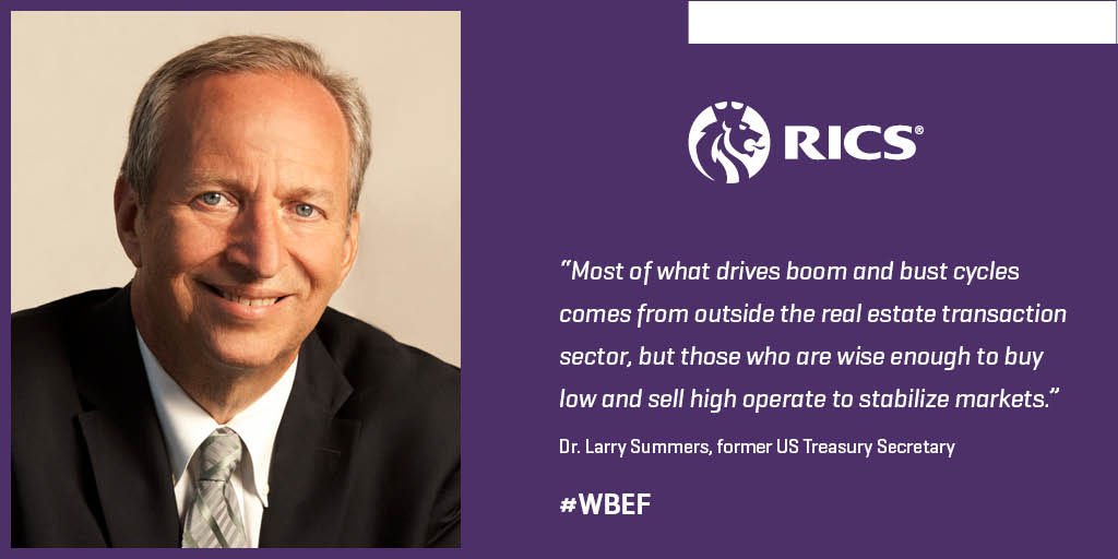Former US Treasury Secretary Larry Summers to talk 'boom and bust' at next week's #WBEF: https://t.co/GYpZr2jDCy https://t.co/yCMUpp3WKY