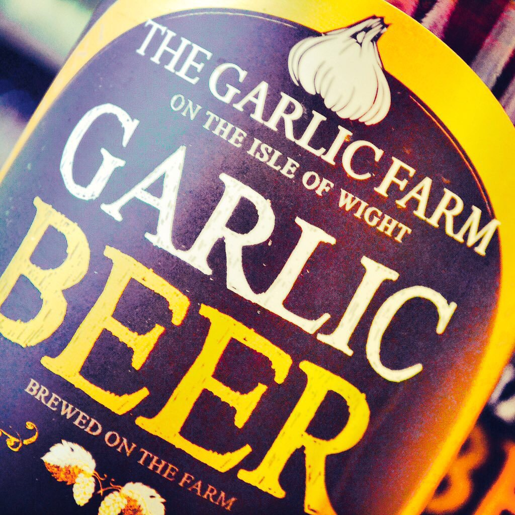 Good news for lovers of beer (and garlic) - more black garlic beer from @thegarlicfarm at glug... today. https://t.co/AGzX40eS88