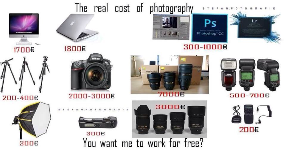 Jasa Foto Bekasi On Twitter The Real Cost Of Photography You Want Me To Work For Free Pic From Leo Ndi Https T Co Ozhxc7gsdx