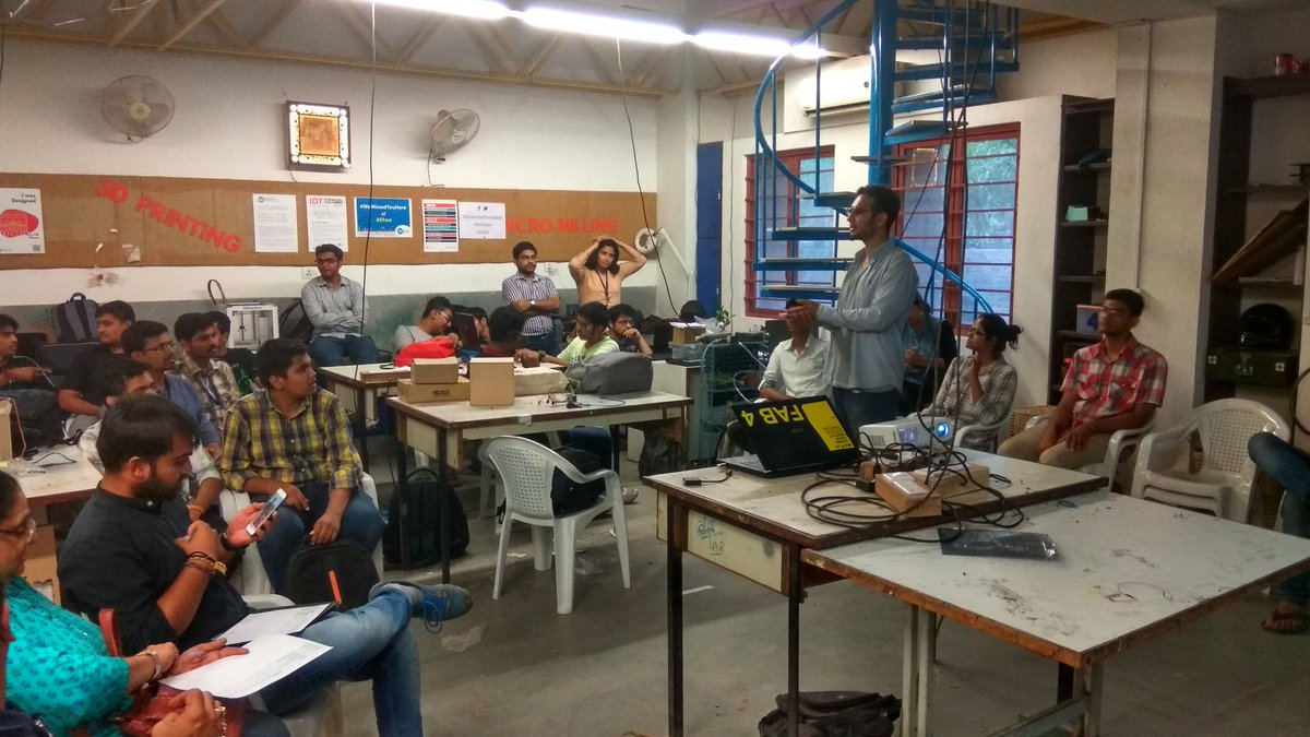 Fab-a-thon Demo started  #fablabcept #GenuinoDayAhmedabad #AEFest #geunioday https://t.co/C6j1DXIwrb