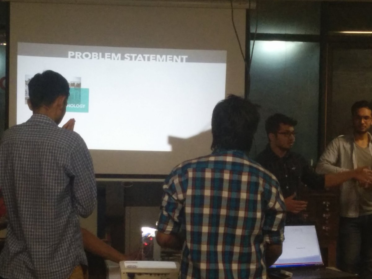 . @CircuitGyan team presenting their project to #fabathon @FabLabCEPT #AEFest https://t.co/T66bx54yfT