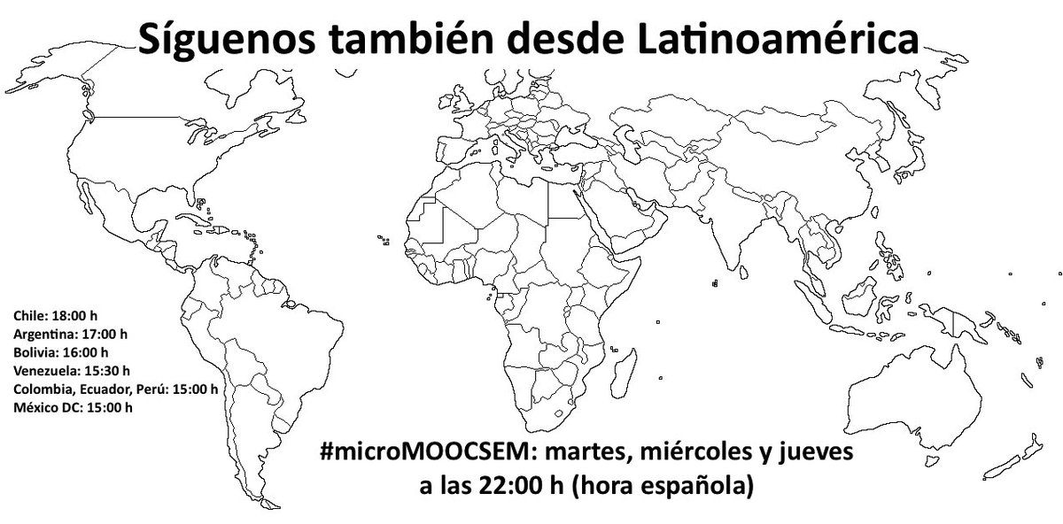Sigue el curso #microMOOCSEM desde Latinoamérica y ¡no te olvides de RT! https://t.co/enowuWSpe3