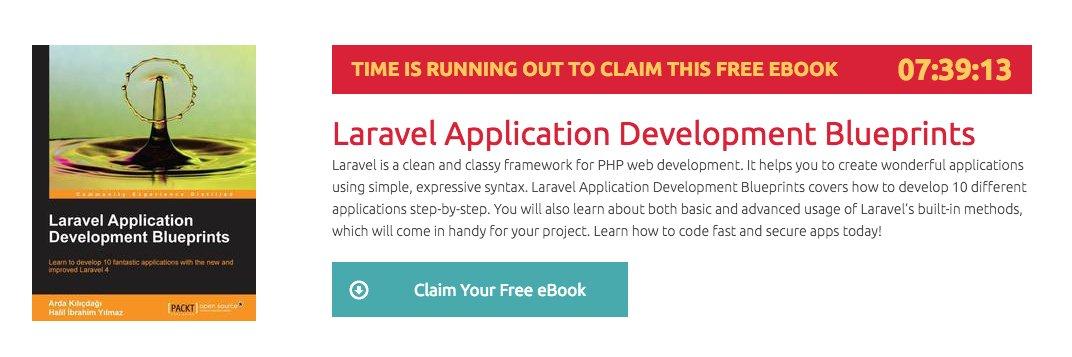 Download Laravel Application Development Blueprints book for FREE!