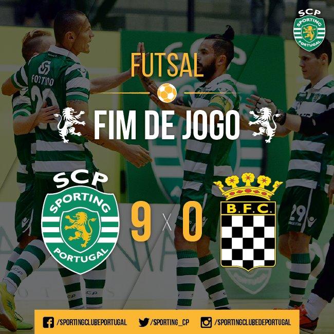 Final da partida! O @Sporting_CP goleia o @boavistaoficial com uma grande exibição em Odivelas! #FutsalSCP