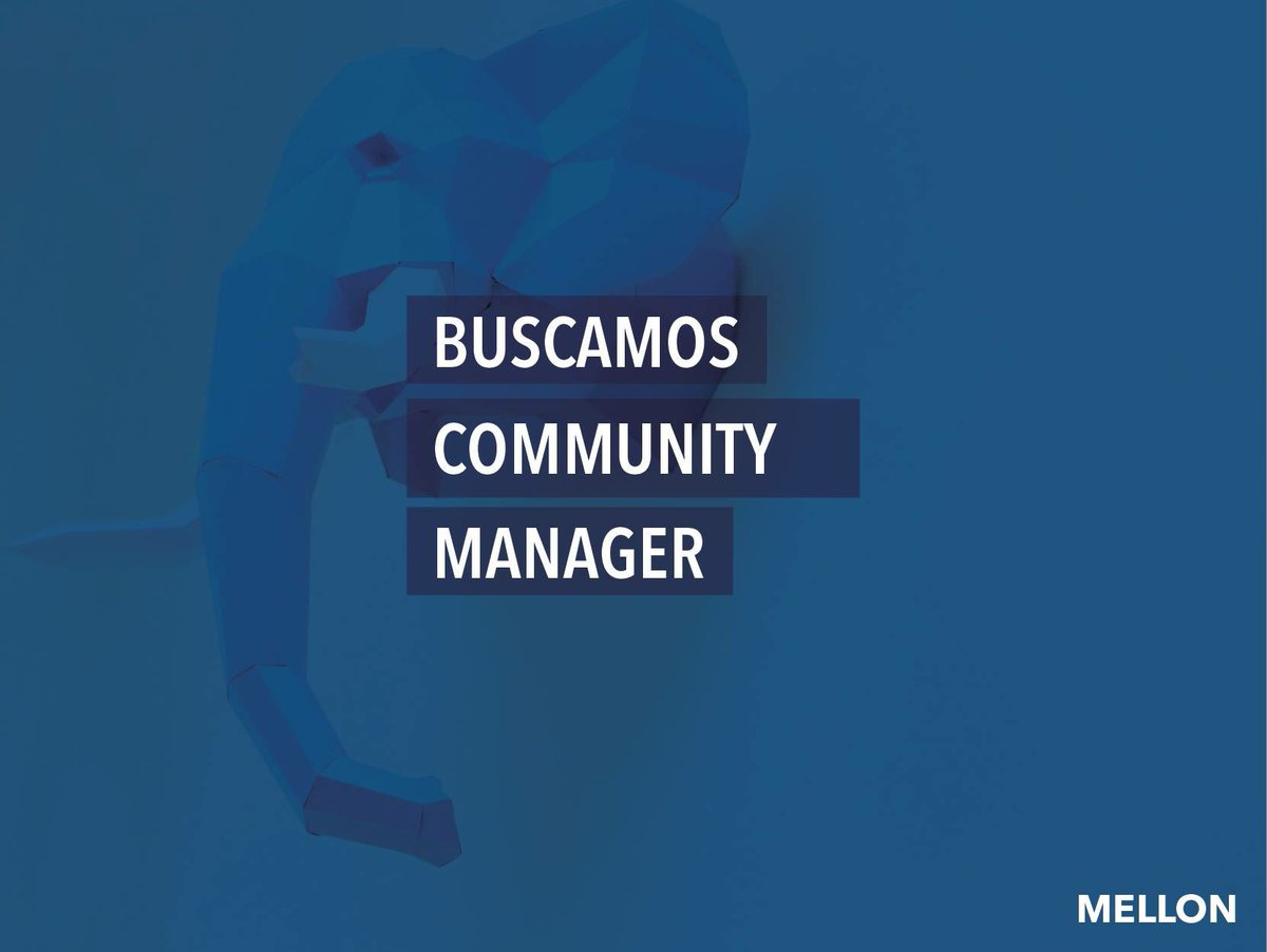 Estamos buscando community manager. Interesados enviar portafolio a daniel@mellon.mx y alan@mellon.mx https://t.co/tcp8SPSNqQ