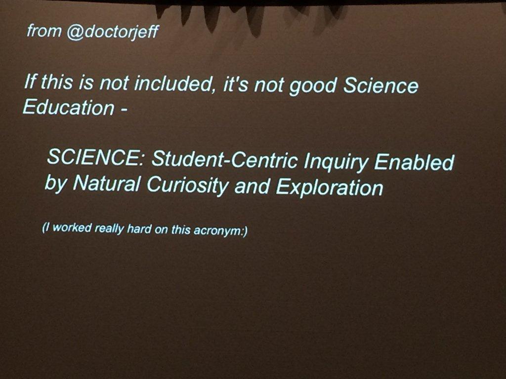 SCIENCE acronym by @doctorjeff https://t.co/WPDXCBnpLK