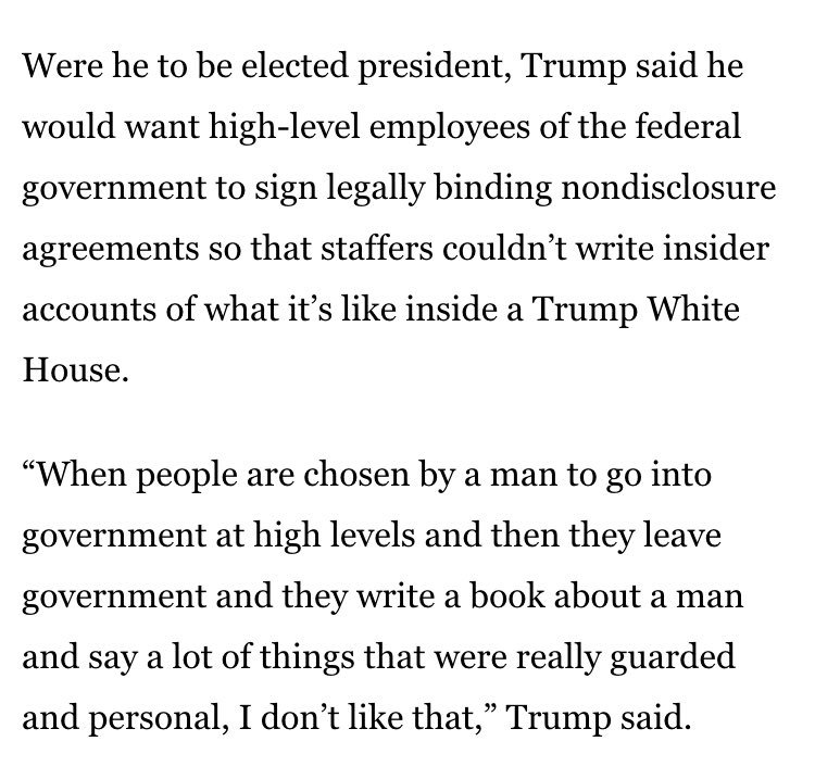 Out White House Tell Alls In Trump Non Disclosure Agreements