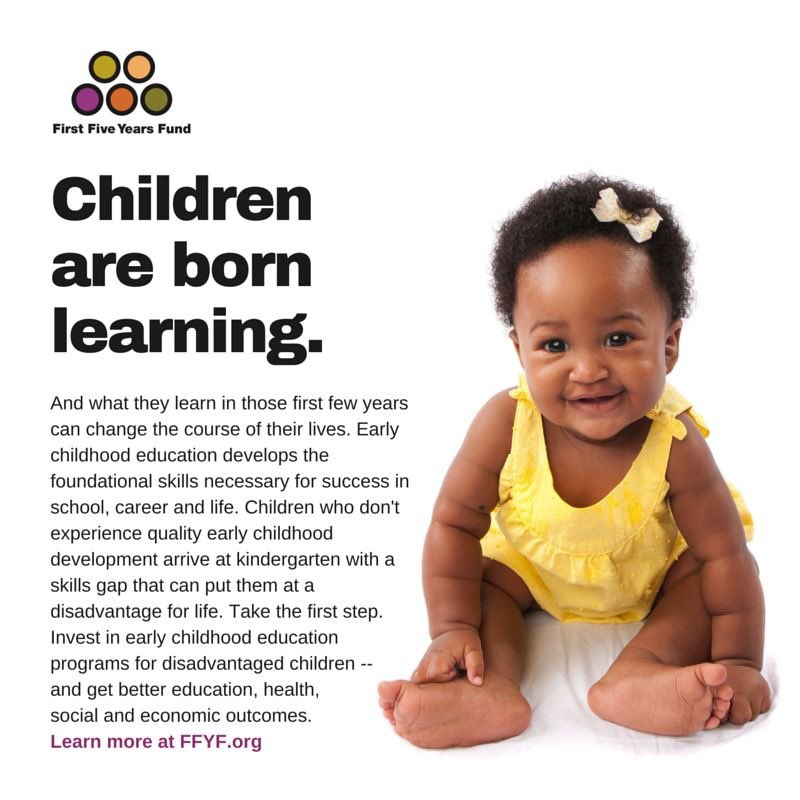 Children are born learning. And what they learn in those first few years can change the course of their lives. #ECE https://t.co/vR7IkJo1Hb