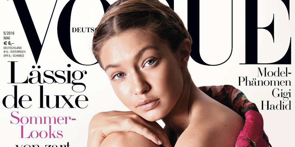 Gigi Hadid is on the cover of #VogueGermany this month! See the full cover: https://t.co/TefUXTg73C