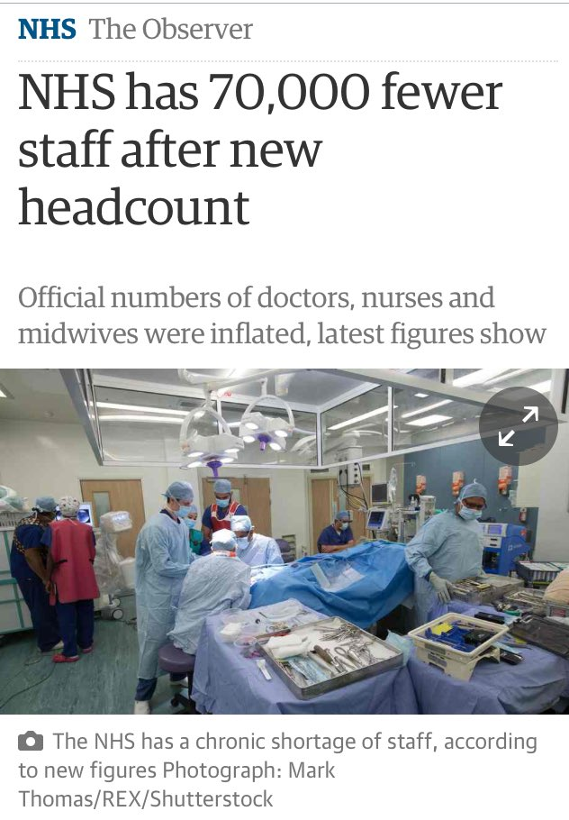 18000 fewer nurses & doctors? Lucky we don't have an aging population or social care in crisis. 7 day NHS? No probs! https://t.co/wuD5r7V8Br