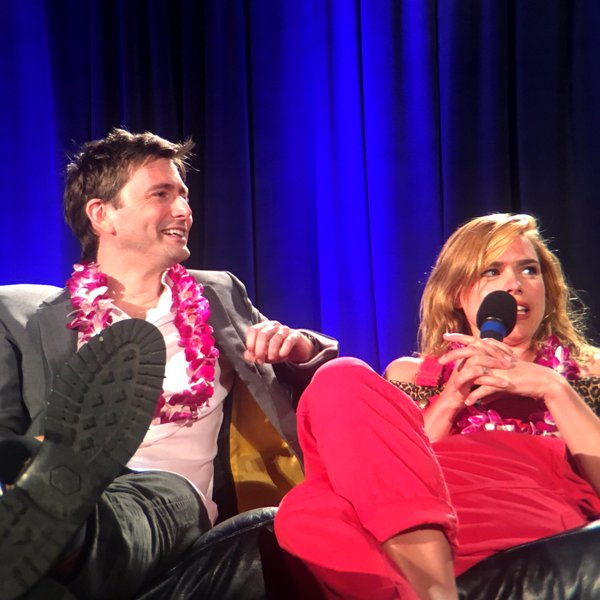 David Tennant and Billie Piper at their Wizard World Comic Con St. Louis panel