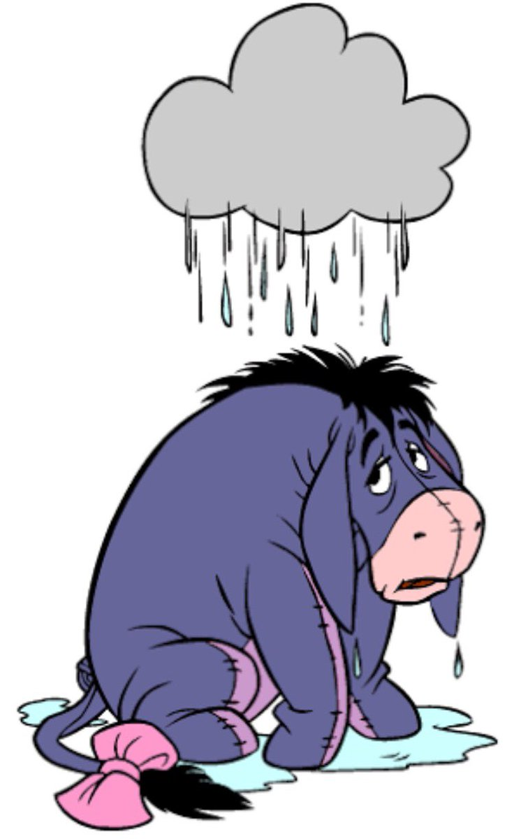 Eyore under the cloud