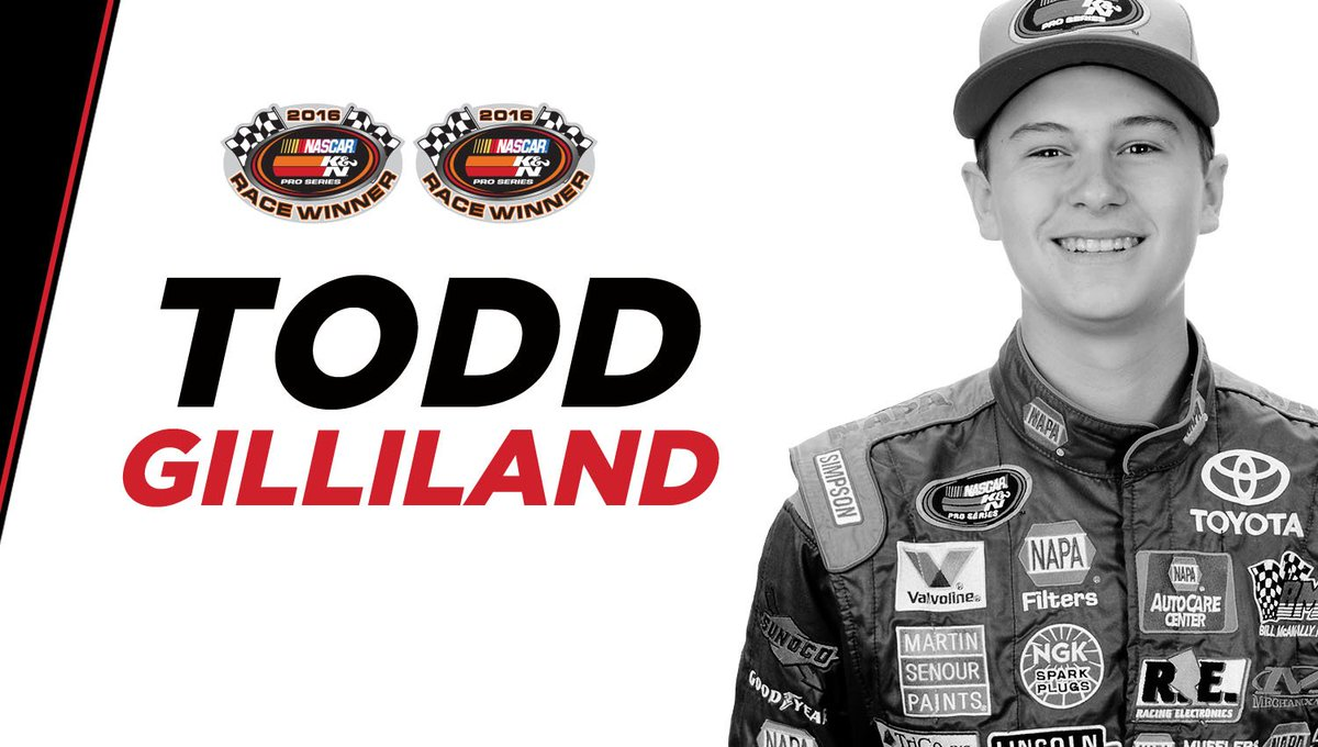 Retweet to congratulate @ToddGilliland_ on his 4th straight