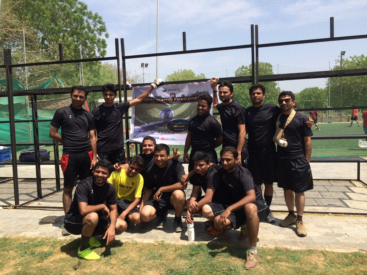 Fantastic performance by team @9splgroup #TweetPlayBurp #futsal #startups #ahmedabad #AEFest https://t.co/g0pTIkfxPc