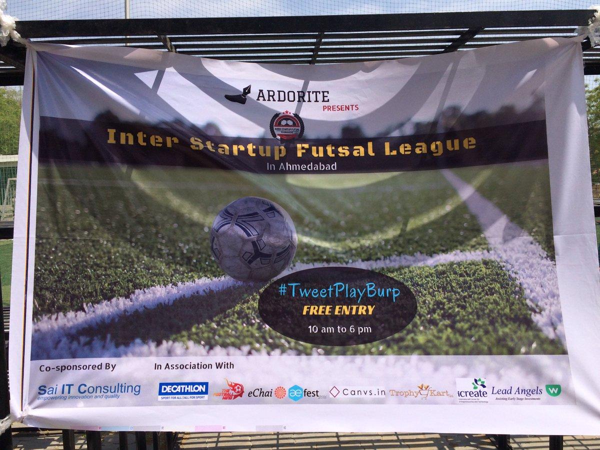 Event Banner :) #TweetPlayBurp #futsal #startups #ahmedabad #AEFest https://t.co/zg5WHEIUpM
