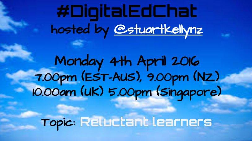 Join us tomorrow for #digitaledchat  #includEDau #aussieED #edchatNZ #bfc630nz #ukedchat Global tweeters welcome! https://t.co/xydoBdAoow