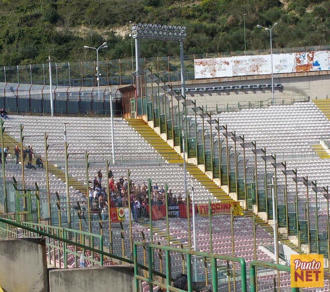 Tifosi del Catanzaro a Messina