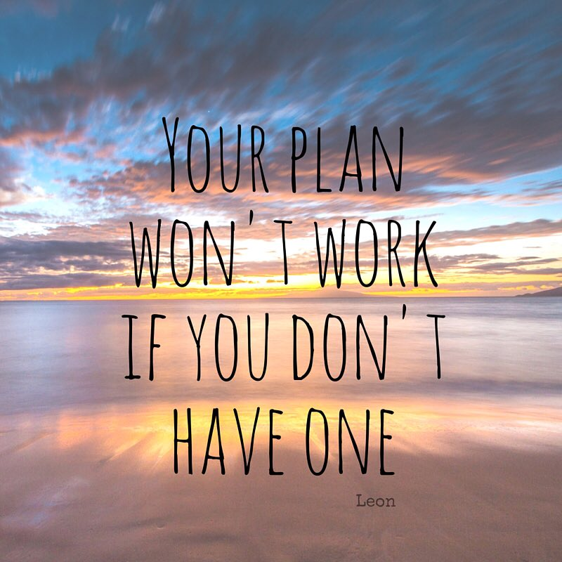 Your plan won't work if you don't have one #ThinkBIGSundayWithMarsha https://t.co/NF3ep9jv63