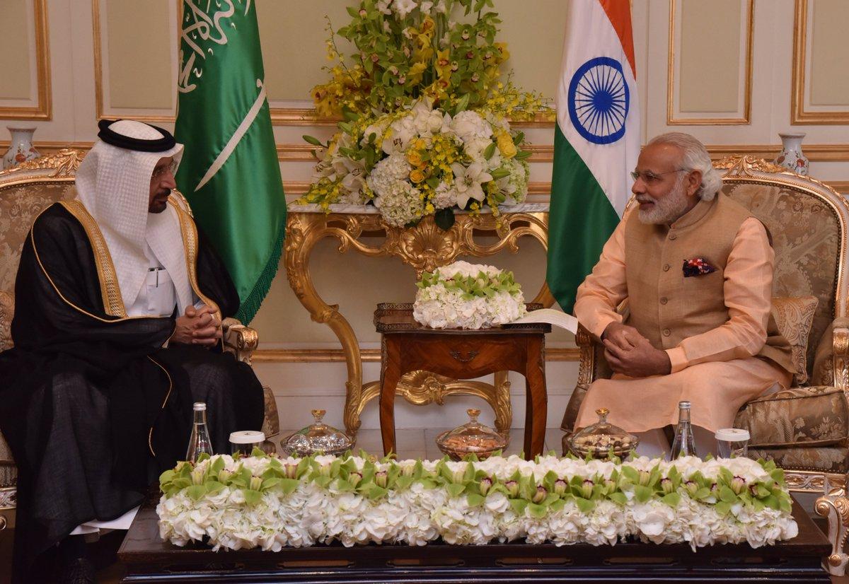 HE Khalid A. Al-Falih & I had a productive meeting, discussing ways to increase India-Saudi Arabia cooperation.