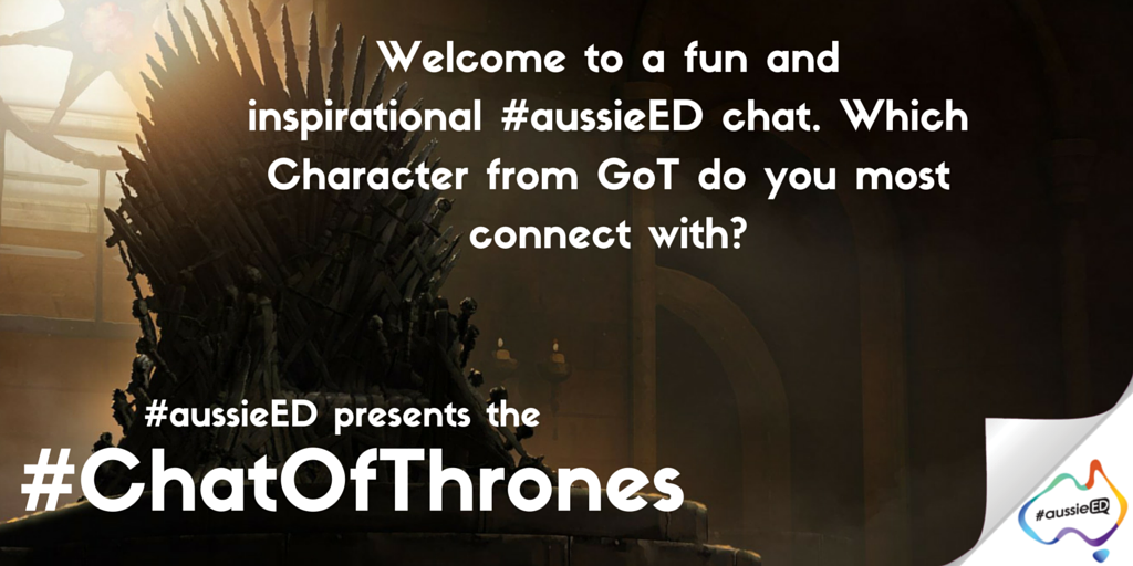 Welcome the #WesterosEd #aussieED - #ChatOfThrones What Got character do you most connect with? (only Got centere Q) https://t.co/ursjWZdSp6