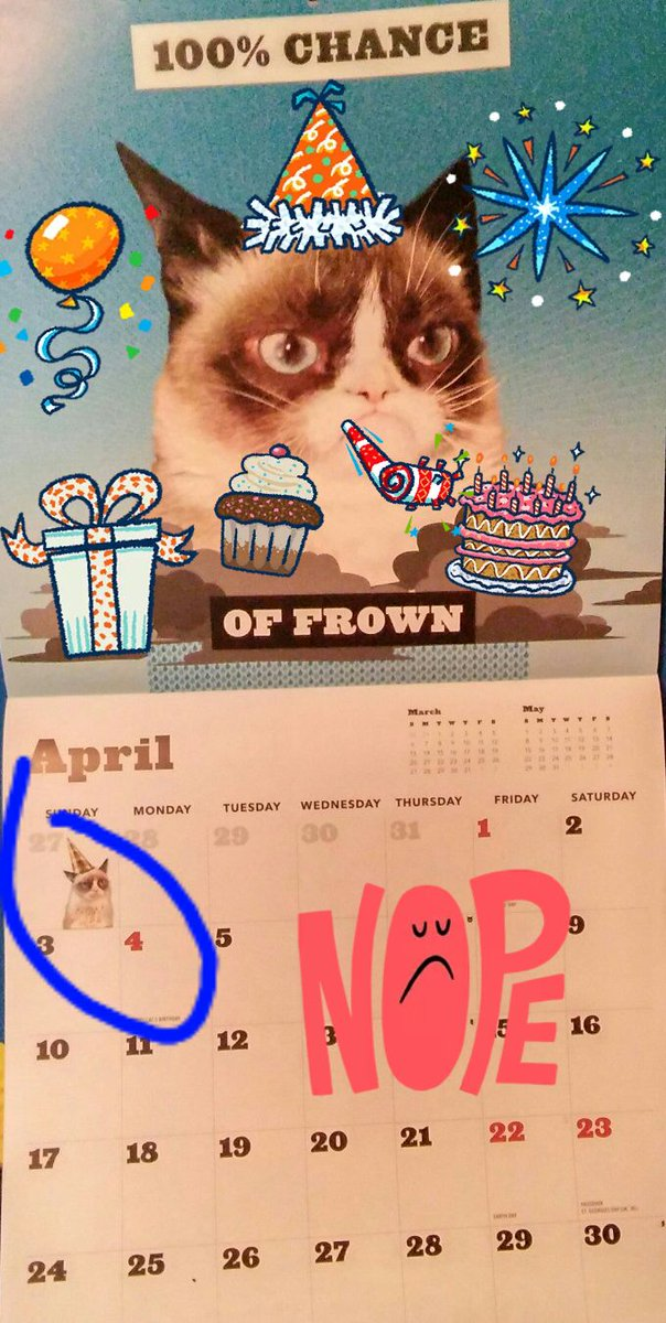 Tomorrow's the BIG day! @RealGrumpyCat turns 4...Happy Grumpy-tastic Birthday!... ❤
