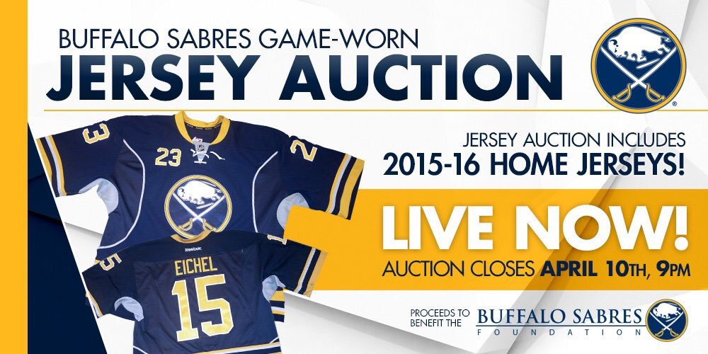 af266f22af1 One of our last game-worn jersey auctions of the season! BID:  bufsabres.co/mH4eNY https://t.co/xi9BVIX1J6