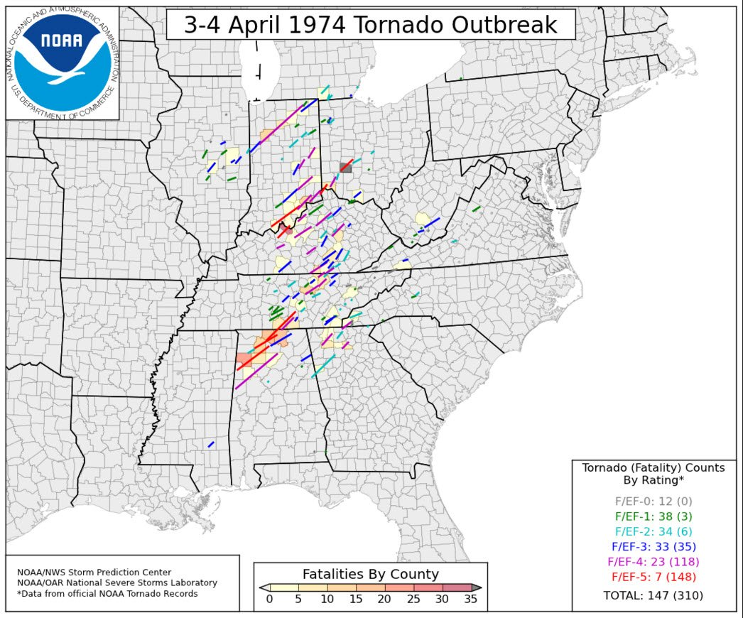 Remembering 1974 #Superoutbreak through JB Elliott's eyes. https://t.co/nMQRQtVVhA @spann https://t.co/YUOGP1Ck3Q