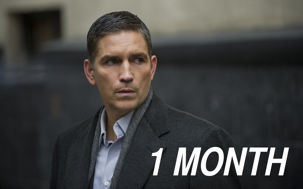 The Man in the Suit returns in 1 MONTH! #PersonOfInterest Season 5 premieres Tuesday, May 3. https://t.co/nyA2zfITiW