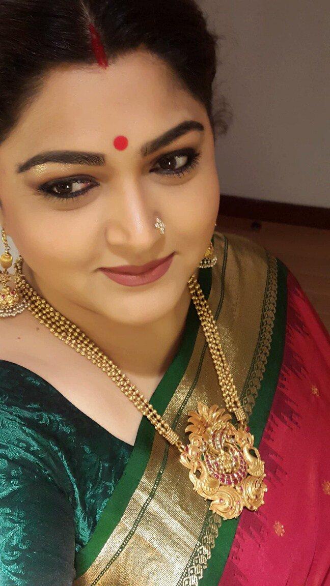 Tamil News On Twitter Actress Kushboo New Silk Saree Selfie Https