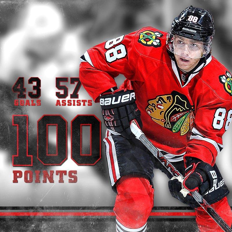💯 points for Patrick Kane! #ThatsHockeyBaby