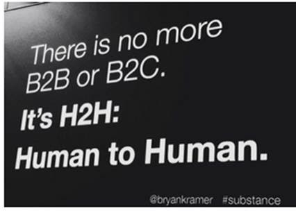 Aren't we tired of B2B & B2C? Even C2C is silly. How about a little more H2H, maybe with a little H2O on the side. https://t.co/8qArGSMp2R