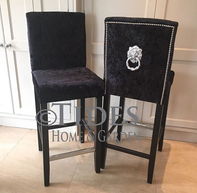 Tides Home Garden On Twitter Black Crushed Velvet Bar Stools With Stud And Ring Detail Are In Stock Now Https T Co Fefiewgdfc Interiordesign