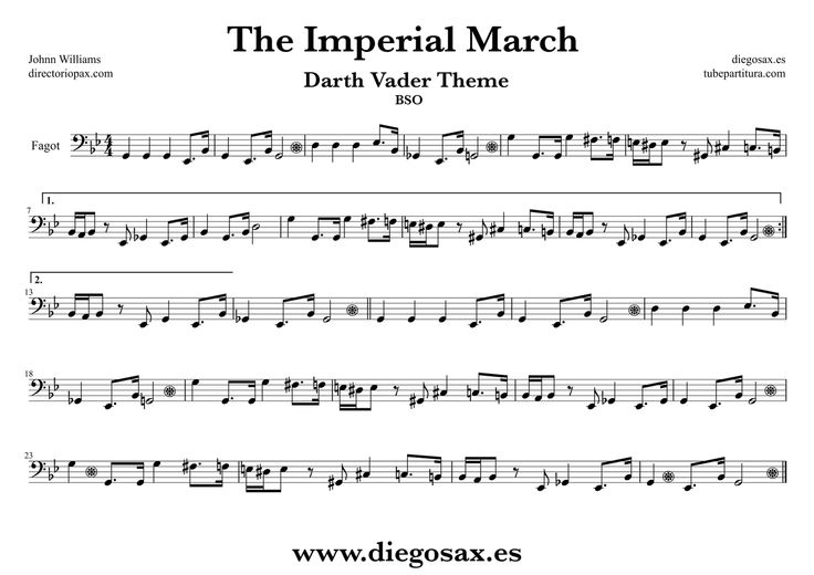 the imperial march for piano intermediate pdf