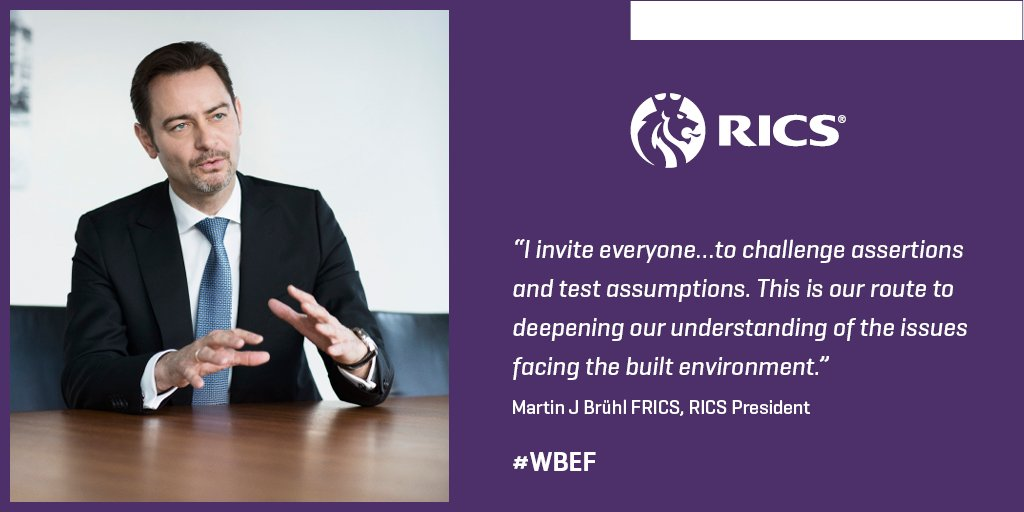 President @MartinJBruehl has been addressing delegates ahead of our #WBEF event: https://t.co/r18nVs3e4K #RICSsota https://t.co/dQVPmSvdny
