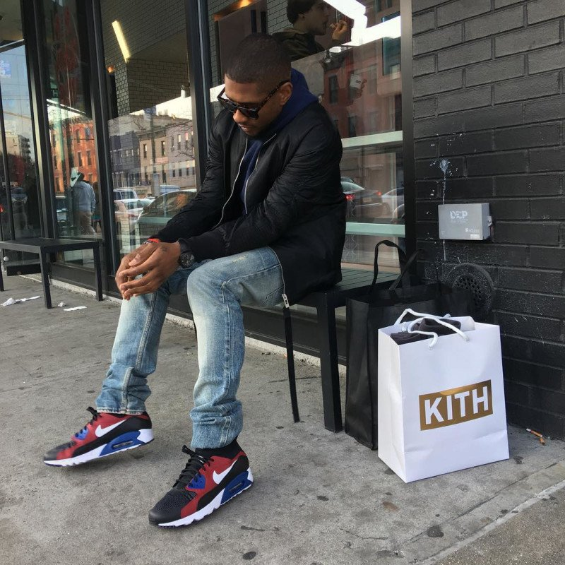 e46c3e20d99f usher picked up tinker s nike air max 90 ultra superfly in celebrity   solewatch