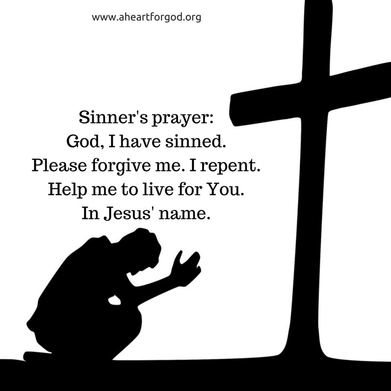 Sinner's prayer: God, I have sinned. Please forgive me. I repent. Help me to live for You. In Jesus' name #HeartChat https://t.co/HjXsHA7zVk