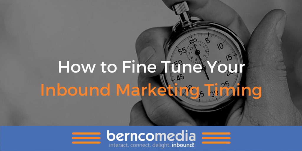 How to Fine Tune Your #InboundMarketing Timing https://t.co/2cpQ8NRVXE #ContentMarketing https://t.co/fminfR6FAV