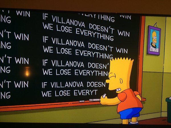 Apparently, the Simpsons are now on the Villanova Bandwagon. https://t.co/lnGDERrf0T https://t.co/pzqqsDNsa2
