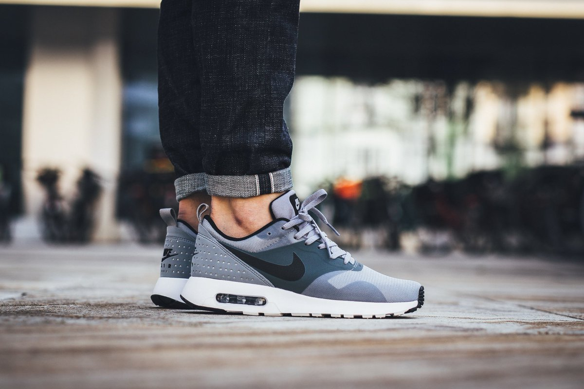 132cbab14c6646 Nike Air Max Tavas - Stealth Black-Dark Grey-White Available now at Titolo  SHOP HERE http   bit.ly 1ZQOhl4 pic.twitter.com 1KhPTCap8r