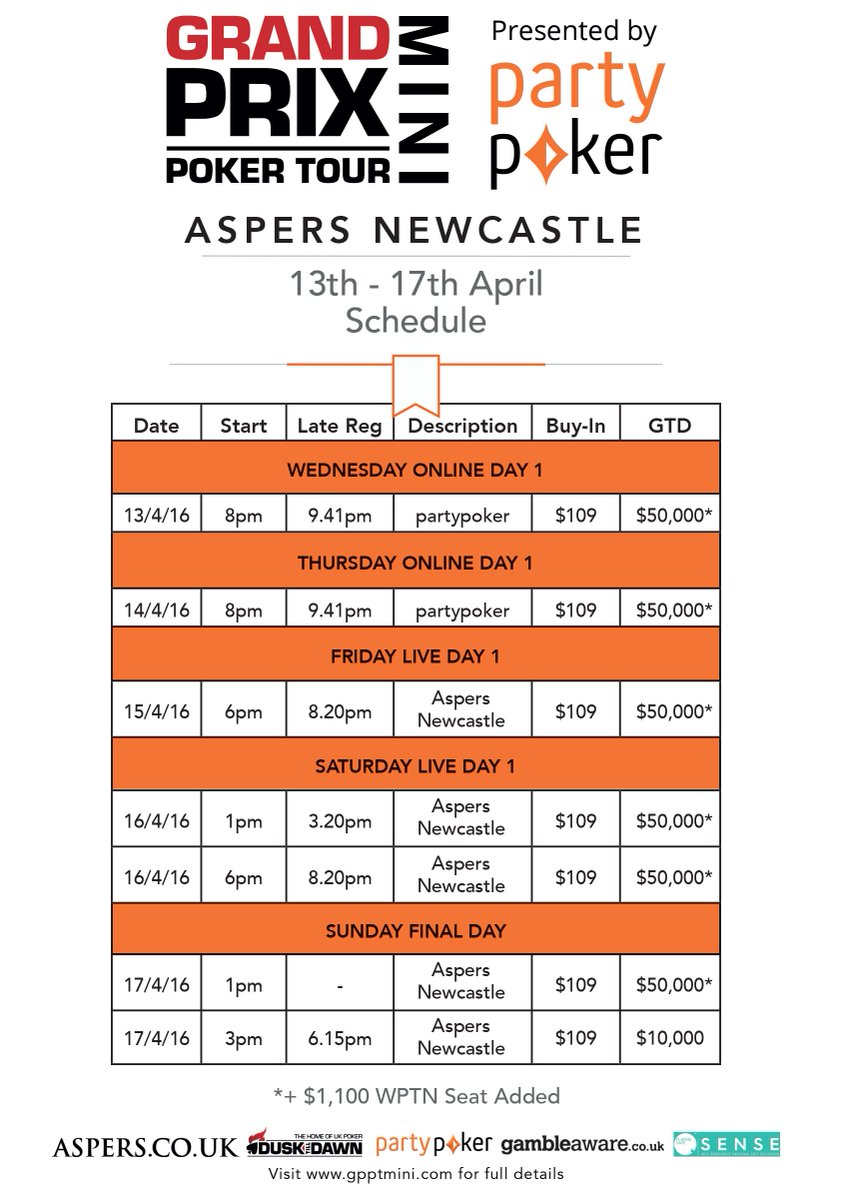 Newcastle poker grand prix