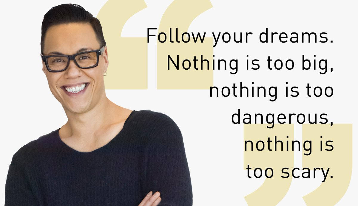 """Follow your dreams!"" #mondaymotivation from our honorary doctorate @therealgokwan  https://t.co/1Q0MEYU55P https://t.co/3SI94BdjOJ"