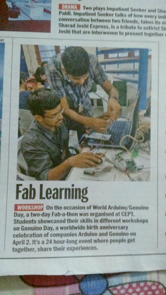 Ahmedabad Mirror covered story of Fab-a-thon.#fablabcept #GenuinoDayAhmedabad #AEFest https://t.co/BbSoBXomyW