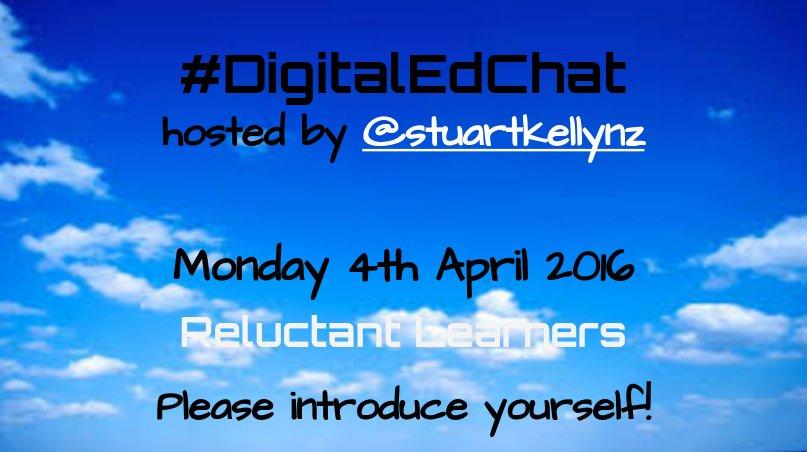 Thumbnail for Reluctant Learners (4 April 2016) #DigitalEdChat